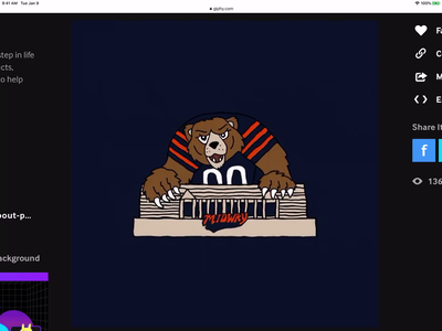 Chicago Bears and PNC Bank GIF branding ui illustration motion lettering instagram sticker bank pnc bears nfl football chicago bears chicago animated gif giphy gif