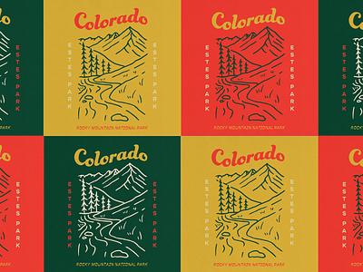 Estes Park, Colorado explore nostalgic hike label t shirt mountains outdoors national park rocky mountain national park rocky mountains estes park colorado