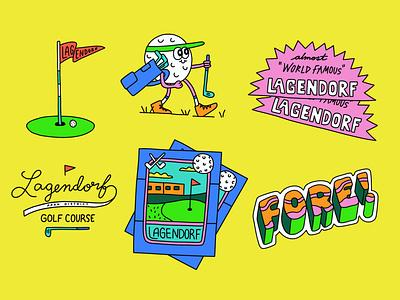 Local Gems: Lagendorf Park District Golf Course badge sticker gem sports t shirt outdoors nature branding lettering golf illustration