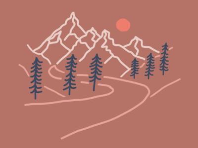 Landscape Illustration (brown)