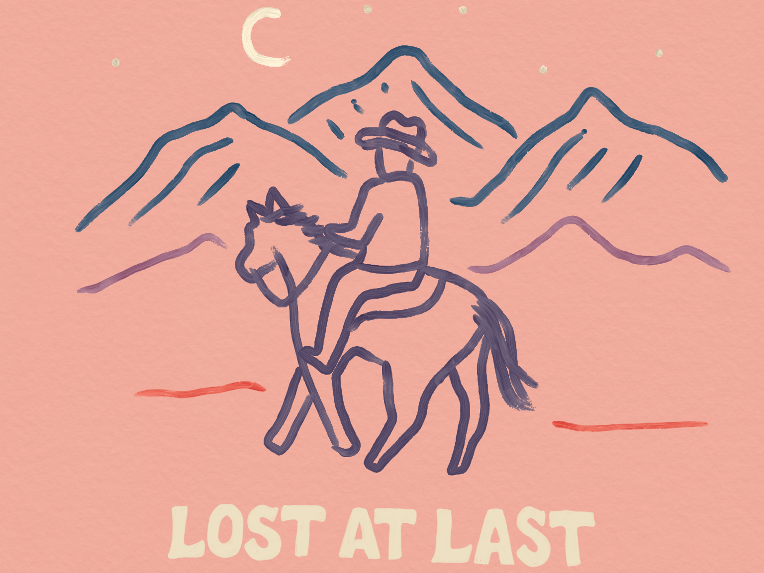 "Keep Nature Wild T shirt design ""Lost at Last"" t shirt outdoors mountains landscape keep nature wild nature adventure journey cowboy horse west arizona travel"