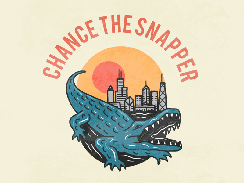 Chance The Snapper: Chicago's favorite gator animals texture illustration city cityscape badge design chance the snapper chicago alligator gator