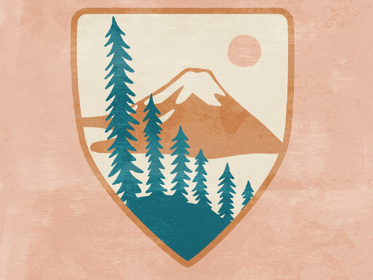 Crater Lake Patch outdoors nature illustration hiking mountains national parks shield badge patch crater lake
