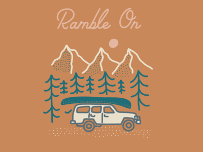 Ramble On (roadtrip illustration)