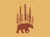 PNW Grizzly Bear Icon