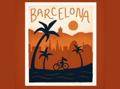 Barcelona Travel Illustration & Gif