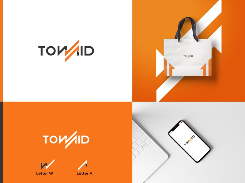 TOWAID technology template line company font icon sign concept logotype letter abstract symbol business alphabet design vector modern tech logo monogram