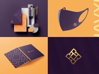 HAVYN Logo and Brand Identity dribblelogo logos logoinspire branddesigner marketing logobrand brandngagency identitydesign brandidentity branding floral creative abstractlogo luxarylogo premium logo modern elegant logo