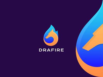 Drafire (Dragon & Flame) Available for sale gradient illustartion logoforsale best newconcept logo graphic design creativelogo flame dragonlogo logotype symbol branding colorlogo modernlogo dribblelogo
