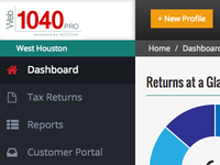 Web1040 Pro Dashboard
