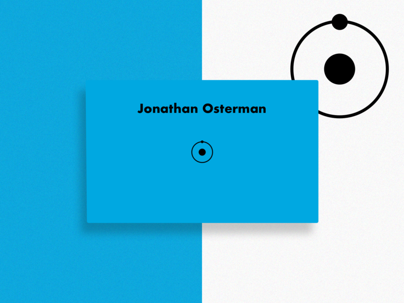 Doctor Manhattan minimalist icon typography branding concept colors logo design superhero weekly warm-up business card design