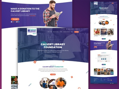 Library Homepage Design