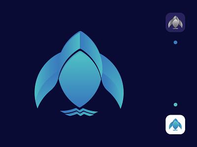 Modern  Fish Iconic Logo vector logo illustrator illustration graphic design design branding icon fish icon fish fish logo