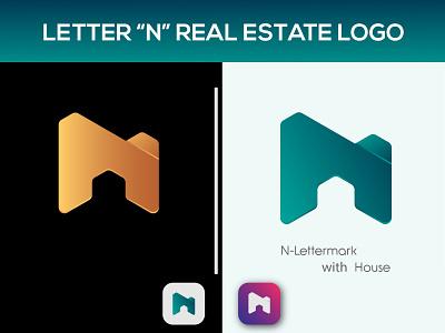 Letter N Real-estate Modern Logo icon n illustrator illustration icon graphic design design branding logo logo design nlogo n logo letter n