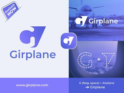 Modern G Letter Travel Operator Logo fly vacation tourism logo letter g modern g
