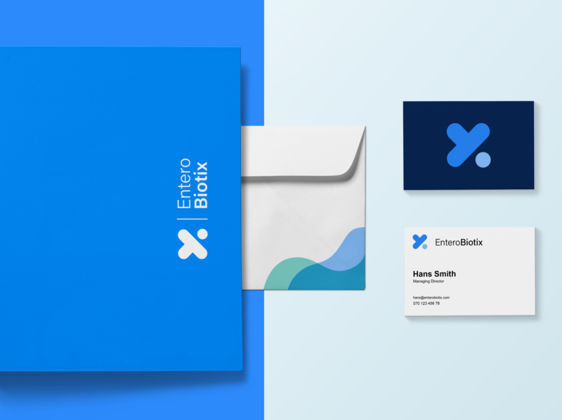 Branding and Illustration   EnteroBiotix illustration web logo branding
