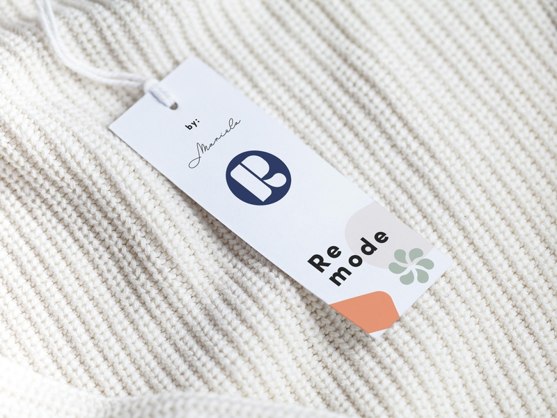 Print design   Remode Collective branding and identity tags print design