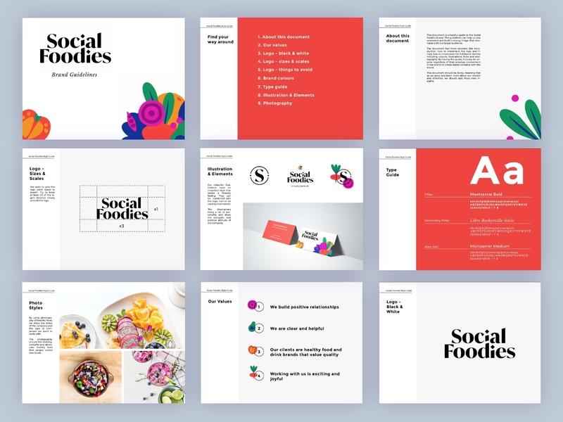 Social Foodies Branding food brand logodesign logotype identity design branding