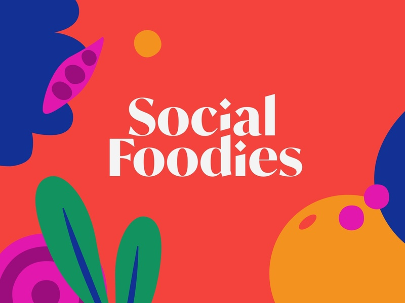 Social Foodies Logo Design illustrations pattern design logo logodesign logotype