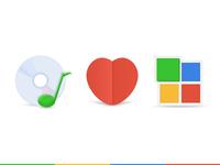 Google Style Music Icon
