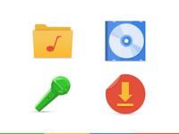 Google Style Music Icon2