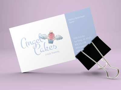 Angel Cakes Business Card brand identity logo design graphic design branding