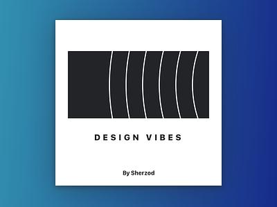 Design Vibes Playlist Cover cover mixtape minimal gradient clean black blue simple spotify playlist
