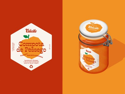 Celeste - Jams better than your grandma's (Peach Jam) illustration copy brand identity branding jam packaging design packaging
