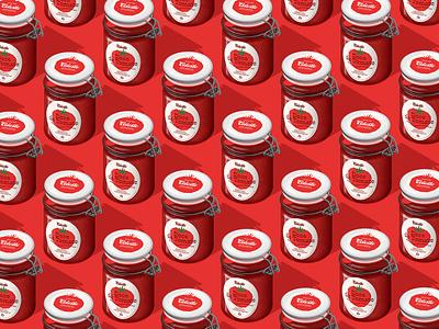 Celeste - Jams better than your grandma's (Tomato Pattern) self-promotion jams illustration pattern brandidentity brand