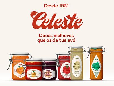 Celeste - Jams better than your grandma's graphic design jams packaging lettering logo brand identity