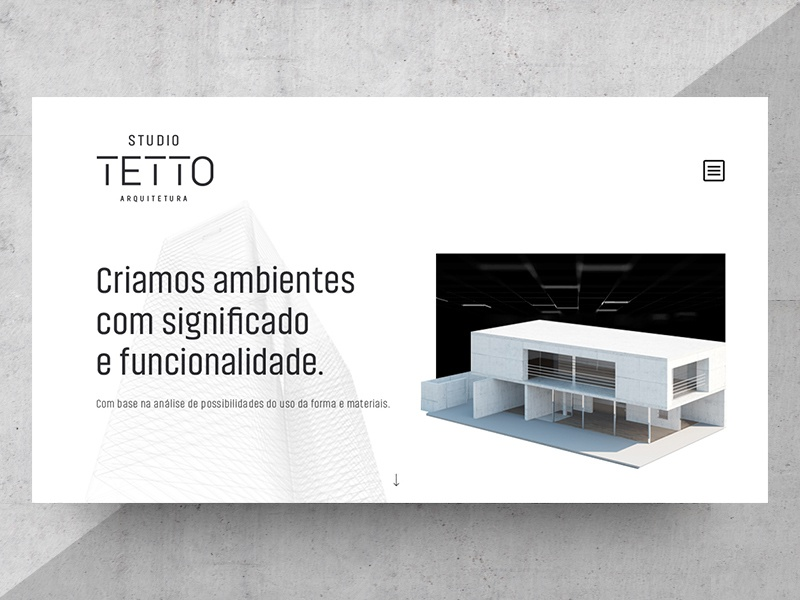 Studio Tetto Landing Page white clean architecture landing page ui user interface