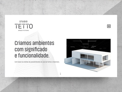 Studio Tetto Landing Page