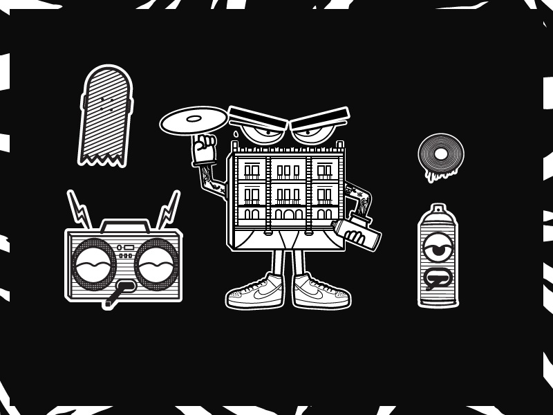 TTK Stickers illustrator vector skate ghetto stickers graffiti urban arts urban character illustration