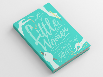 Little Women Book Cover   Recovering the Classics little women typography illustration literature childrens book book