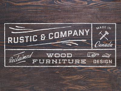 Rustic Logo Concept typography wood vintage rustic logo