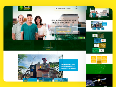 Brasil Inteligente - Federal Government 2016 art direction responsive design grids photoshop uxdesign ui design ui web ux design