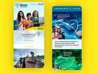 Brasil Inteligente - Federal Government 2016 web uxdesign ux ui design ui responsive design photoshop grids design art direction