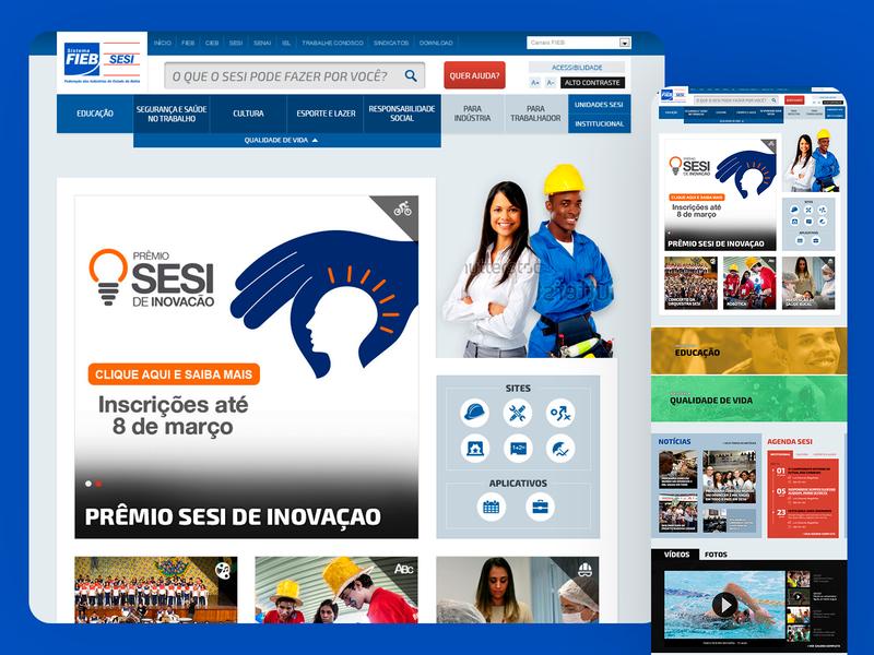 SESI Portal Responsive Website - 2014 ux ui responsive design grids uxdesign ui design photoshop design art direction