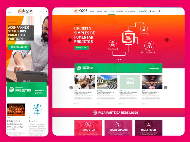 Logos UFBA Responsive Website - 2015 branding web ux ui grids uxdesign ui design photoshop design art direction responsive design