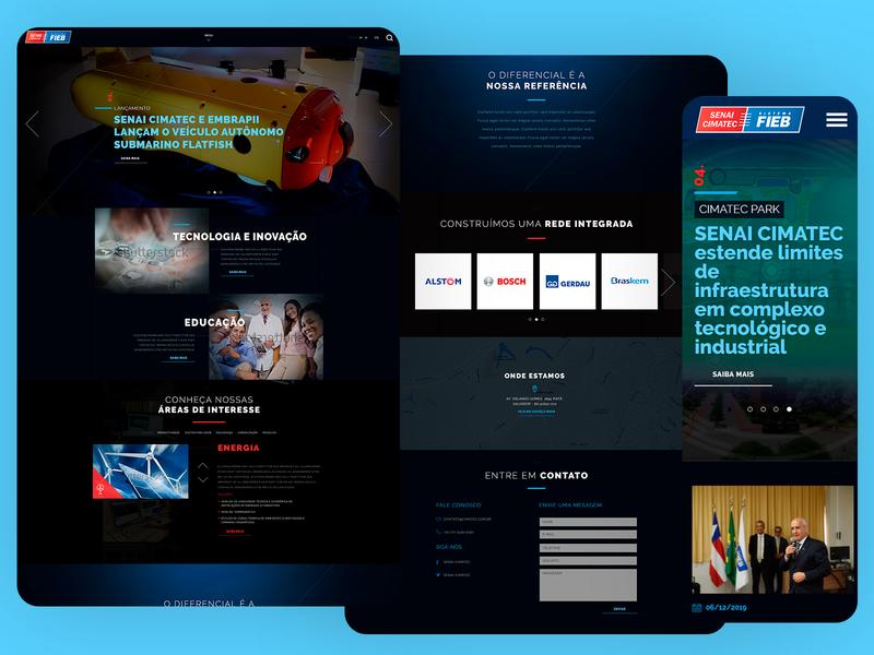 SENAI Cimatec Responsive Design Website - 2016 web ux ui responsive design grids uxdesign ui design photoshop design art direction