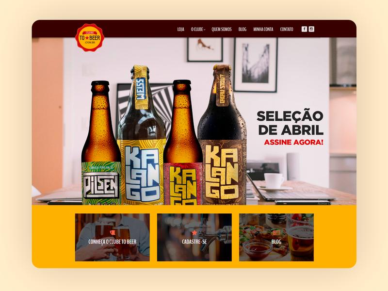 Clube To Beer E-commerce - 2016 wordpres e-commerce responsive design grids uxdesign ui design photoshop design art direction