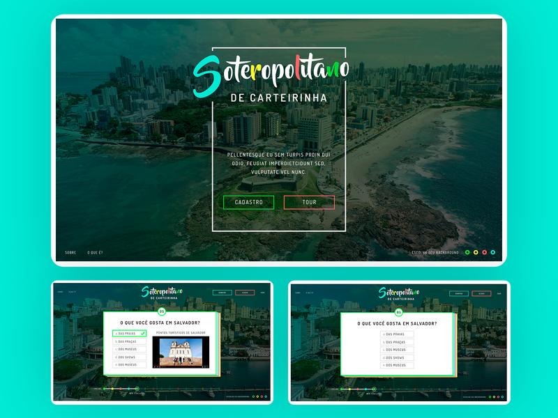 Soterapolitano Landing Page Quiz - 2016 web ux ui responsive design grids uxdesign ui design photoshop design art direction