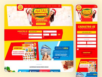 GBarbosa SuperMarket Website - 2017 web mobile ui e-commerce responsive design grids uxdesign ui design photoshop design art direction