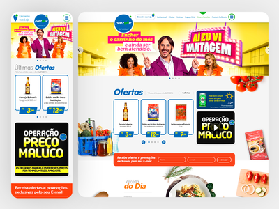 Prezunic Supermarket Responsive Website - 2017 grids e-commerce mobile ui web responsive design uxdesign ui design photoshop design art direction