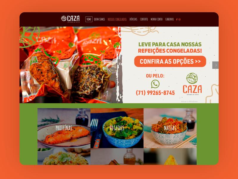 Caza Restaurant E-Commerce - 2016 e-commerce design branding grids responsive design ui design design art direction e-commerce wordpress