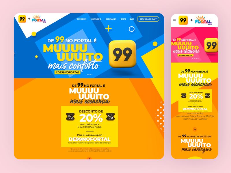 99 no Fortal Hotsite Design - 2019 ui uxdesign photoshop grids responsive design wordpress ui design design art direction
