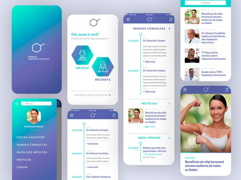 Elmeco App Design - 2018 mobile ui ui illustration adobe xd photoshop uxdesign responsive design grids ui design design art direction