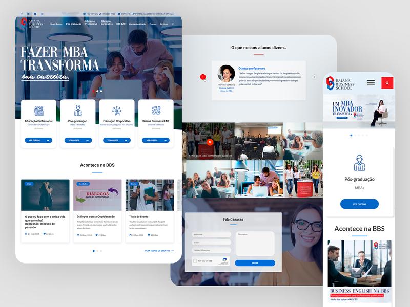 Baiana Business School Responsive Website - 2019
