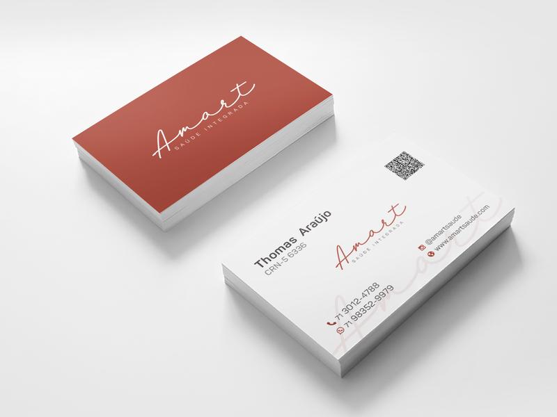 Branding Logo Design - Amart Saúde Integrada - 2019 illustrator nutrition nutritionist vector logo illustration visual identity visiting card card design branding logodesign design art direction