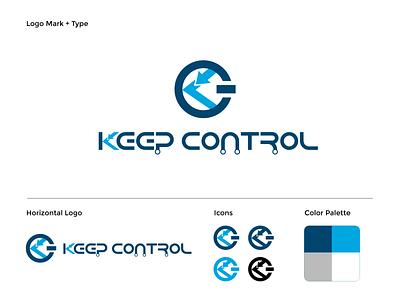 Keep Control - Branding Logo Design - 2020 visual identity keepcontrol illustrator icon typography vector logo illustration branding design art direction
